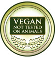 vegan not tested on animals vector image vector image