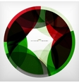 Red green ring - business abstract bubble vector image