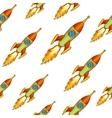 Vintage rocket seamless backgroung vector image