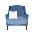 Armchair with white pillow vector image vector image