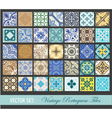 Seamless Vintage Tiles Background Collection vector image vector image