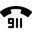 911 - emergency telephone number vector image