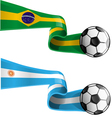 brazil argentina vector image