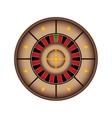 casino roulette icon vector image