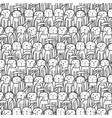 hand drawn cute bunnies pattern vector image