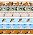 Seamless sports patterns vector image