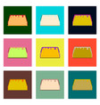set pixel icons of tacos vector image