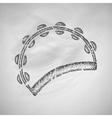 tambourine icon vector image