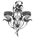 Tattoo skull goat vector image