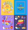 teachers day promo poster vector image