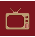 The tv icon Television symbol Flat vector image