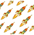 Vintage rocket seamless backgroung vector image