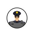 Police avatar Cop in uniform Head policeman vector image