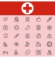 Set Of 25 Healthcare Line Icons vector image