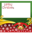 2012 christmas card with jingle bells vector image