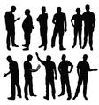 group of men vector image