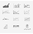 business finance statistics infographics doodle vector image