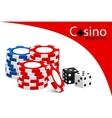 casino illustration vector image vector image