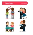 First date of happy couple vector image
