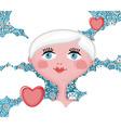 Girl in love vector image