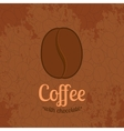 Brown Textured Background with Coffee Beans vector image