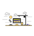 flat design construction web site vector image