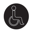 Handicap symbol icon vector image
