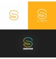letter S logo alphabet design icon set background vector image