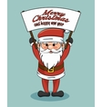 merry christmas and happy new year santa hold vector image