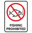 prohibited fishing vector image
