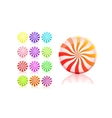striped candy icon set lollipop vector image vector image