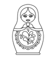 Russian nesting doll icon outline style vector image