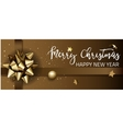 Merry Christmas or Happy New Year web banner vector image