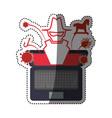 pc laptop malware vector image
