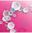 Abstract pink background with place for your text vector image vector image
