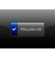 Follow Us Button vector image