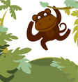 monkey in forest vector image