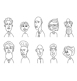 Sketch people icons vector image