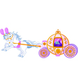 beautiful fairytale carriage vector image
