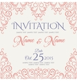 Invitation card design vector image