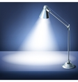 Realistic office table with a desk lamp vector image