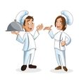 woman and man chefs people design vector image