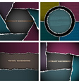 Backgrounds of torn paper vector image