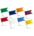 Set of pin icon flags vector image vector image