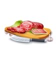 Meat On Board vector image