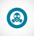 respirator icon bold blue circle border vector image