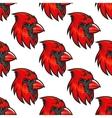 Cartoon cardinal birds seamless pattern vector image vector image
