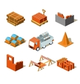 Construction Project Info GraphicDetailed vector image