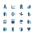 Company Business Strategies Azure vector image vector image