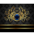 gold vintage frame for design packing - vector image vector image
